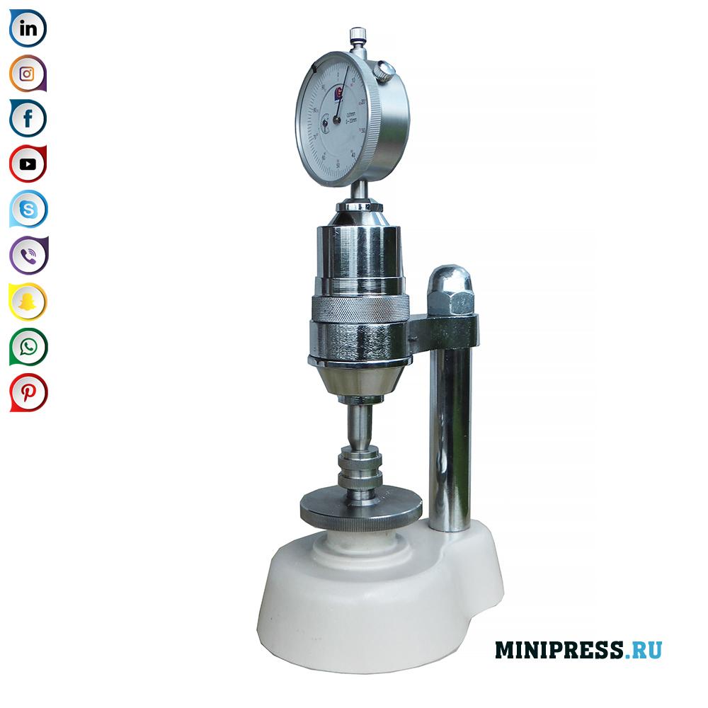 錠剤および顆粒の硬度を測定するための実験室測定装置