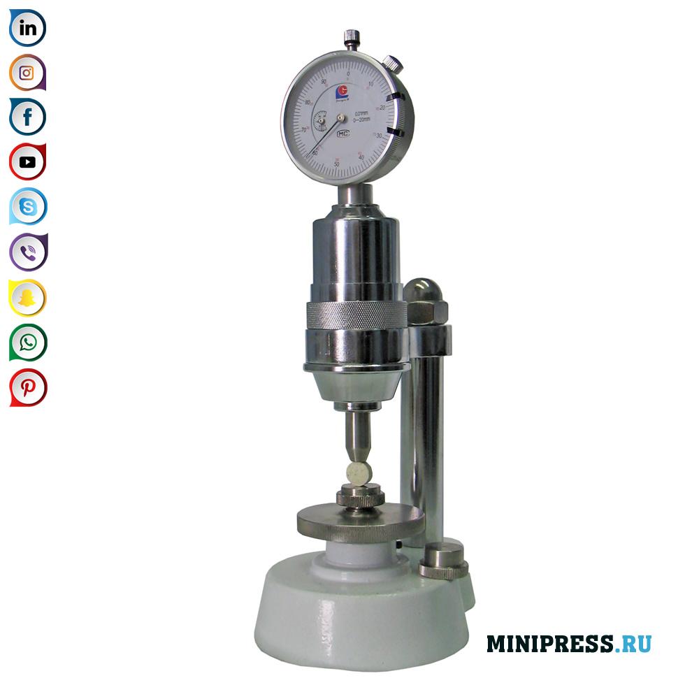 Dispositivo de medição de laboratório para determinar a dureza de comprimidos e grânulos